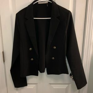 Blazer with accent buttons